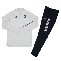 Kids 20/21 Juventus Gray Zipper Sweat Shirt Kit(Top+Trouser)
