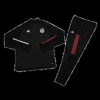Kids 20/21 Bayern Munich Black Zipper Sweat Shirt Kit(Top+Trouser)
