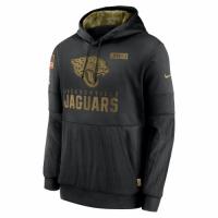 Men's Jacksonville Jaguars Black 2020 Salute to Service Sideline Performance Pullover Hoodie