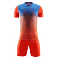 Style Customize Team Orange&Blue Soccer Jerseys Kit(Shirt+Short)