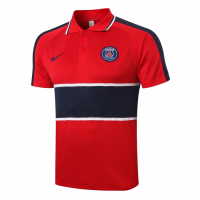 20/21 PSG Grand Slam Polo Shirt-Red&Navy