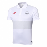 20/21 PSG Grand Slam Polo Shirt-White&Gray