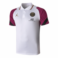 20/21 Jordan PSG Grand Slam Polo Shirt-White&Purple