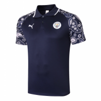 20/21 Manchester City Grand Slam Polo Shirt-Navy
