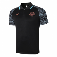 20/21 Manchester City Grand Slam Polo Shirt-Black