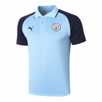 20/21 Manchester City Grand Slam Polo Shirt-Navy&Blue