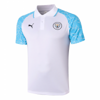 20/21 Manchester City Grand Slam Polo Shirt-White&Blue