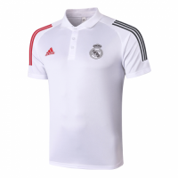 20/21 Real Madrid Core Polo Shirt-White