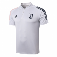 20/21 Juventus Core Polo Shirt-Light Gray