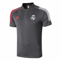 20/21 Real Madrid Core Polo Shirt-Dark Gray