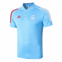 20/21 Real Madrid Core Polo Shirt-Blue