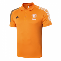 20/21 Manchester United Core Polo Shirt-Orange