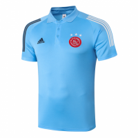 20/21 Ajax Core Polo Shirt-Light Blue