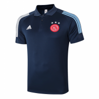 20/21 Ajax Core Polo Shirt-Navy
