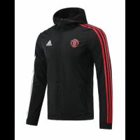 20/21 Manchester United Black&Red&White Windbreaker Hoodie Jacket