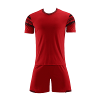 Style Customize Team Red Soccer Jerseys Kit(Shirt+Short)