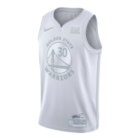 Men's Golden State Warriors Curry #30 White MVP Jersey