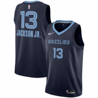 Men's Memphis Grizzlies Jaren Jackson No.13 Nike Navy Swingman Team Jersey