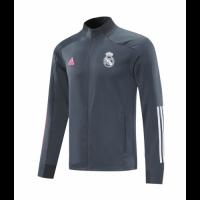 20/21 Real Madrid Gray High Neck Collar Training Jacket