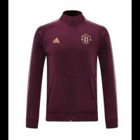 20/21 Manchester United Dark Red High Neck Collar Training Jacket
