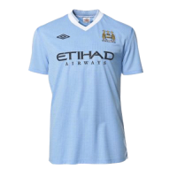 11/12 Manchester City Home Blue Retro Soccer Jerseys Shirt