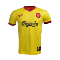 97/99 Liverpool Away Yellow Retro Soccer Jerseys Shirt