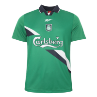 99/00 Liverpool Away Green Retro Soccer Jerseys Shirt