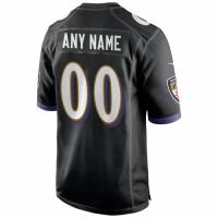 Men's Baltimore Ravens Nike Black Alternate Player Game Jersey