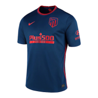 20/21 Atletico Madrid Away Blue Soccer Jerseys Shirt(Player Version)