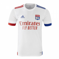 20/21 Olympique Lyonnais Home White Jerseys Shirt