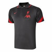 20/21 Liverpool Core Polo Shirt-Dark Gray