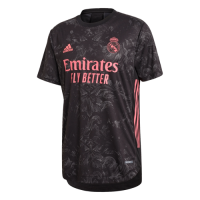 20/21 Real Madrid Third Away Black Soccer Jerseys Shirt(Player Version)