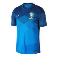 2021 Brazil Away Blue soccer Jerseys Shirt(Player Version)