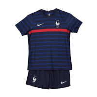 2020 France Home Blue Two Stars Children's Jerseys Kit(Shirt+Short)