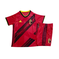 2020 Belgium Home Red Children's Jerseys Kit(Shirt+Short)