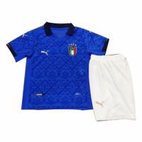 2020 Italy Home Blue Children's Jerseys Kit(Shirt+Short)