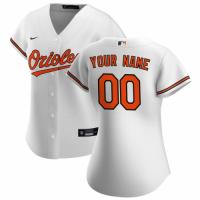 Women's Baltimore Orioles Nike White 2020 Home Replica Custom Jersey