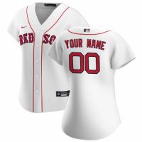 Women's Boston Red Sox Nike White 2020 Home Replica Custom Jersey
