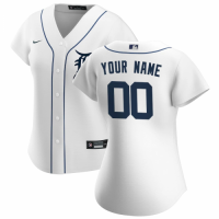 Women's Detroit Tigers Nike White 2020 Home Replica Custom Jersey