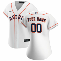 Women's Houston Astros Nike White 2020 Home Replica Custom Jersey