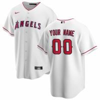 Men's Los Angeles Angels Nike White Home 2020 Replica Custom Jersey