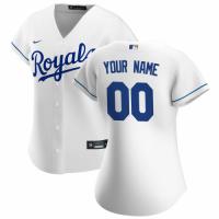 Women's Kansas City Royals Nike White 2020 Home Replica Custom Jersey