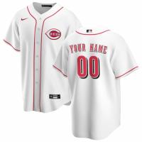 Men's Cincinnati Reds Nike White Home 2020 Replica Custom Jersey