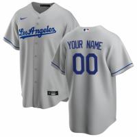 Men's Los Angeles Dodgers Nike Gray Road 2020 Replica Custom Jersey