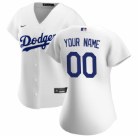 Women's Los Angeles Dodgers Nike White 2020 Home Replica Custom Jersey