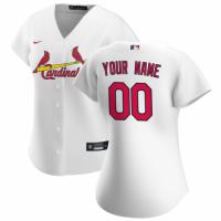 Women's St. Louis Cardinals Nike White 2020 Home Replica Custom Jersey