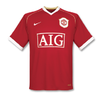 06/07 Manchester United Home Red Retro Jerseys Shirt
