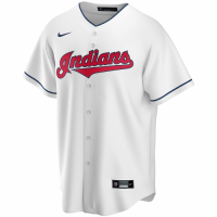 Men's Cleveland Indians Nike White Home 2020 Replica Custom Jersey