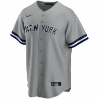 Men's New York Yankees Nike Gray Road 2020 Replica Custom Jersey