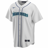 Men's Seattle Mariners Nike White Home 2020 Replica Custom Jersey